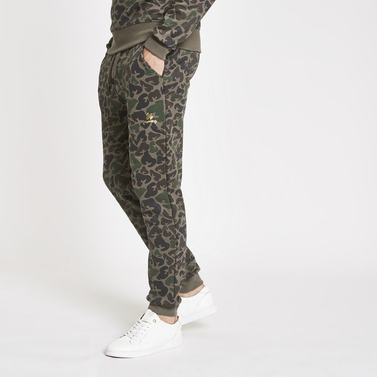 Money Clothing dark brown camo joggers