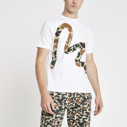 Money Clothing white camo Money print T-shirt