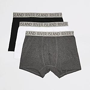 Set van 3 grijze strakke boxers met RI-logo