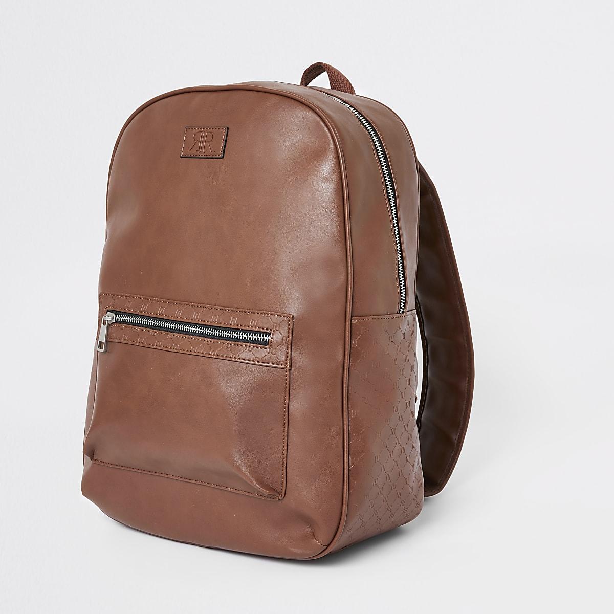 72c0d7ff Light brown RI monogram trim rucksack - Backpacks / Rucksacks - Bags ...
