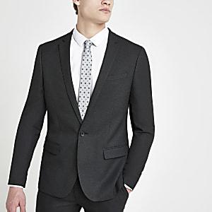 Dunkelgraue Skinny Anzugsjacke