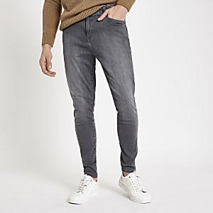 Monkee Genes – Graue Super Skinny Jeans