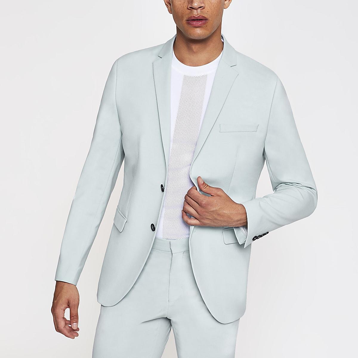 Selected Homme – Blazer de costume slim vert