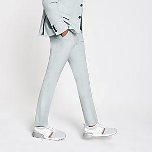 Selected Homme - Lichtgroene slim-fit broek