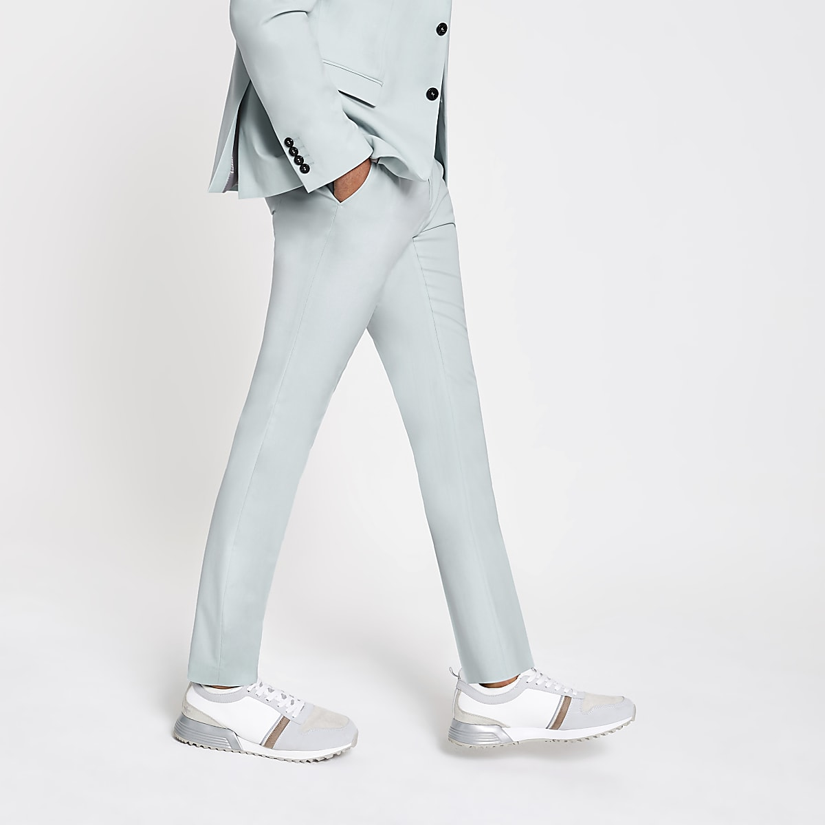 Selected Homme green slim fit suit pants