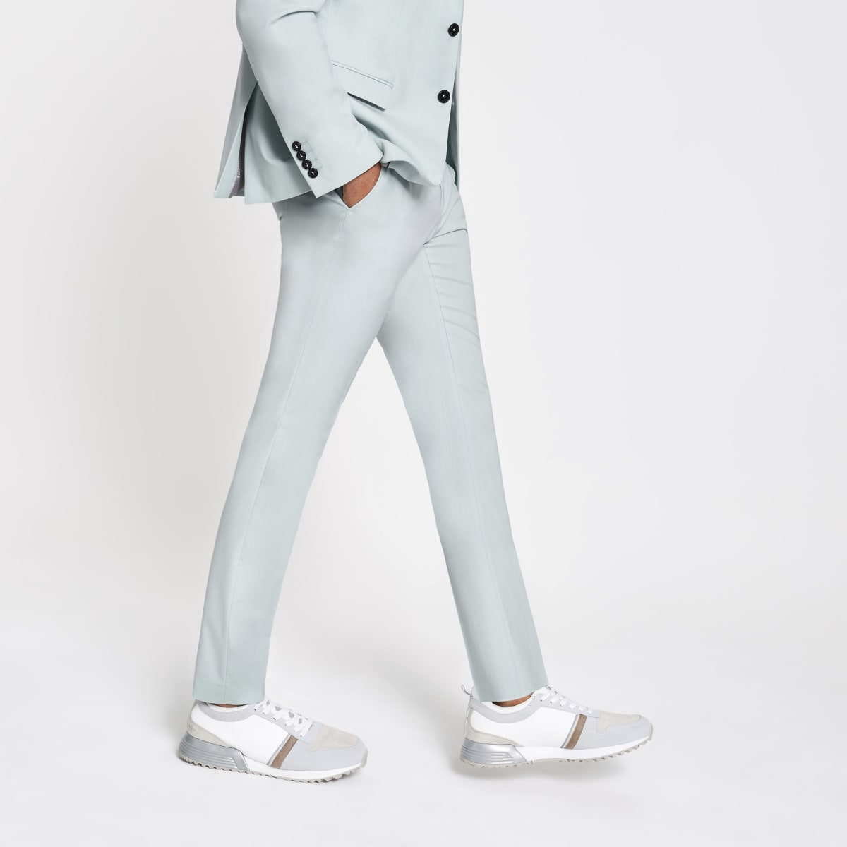 Selected Homme green slim fit suit strousers