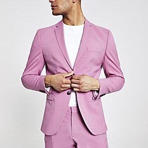 Selected Homme – Pinker Slim Fit Blazer