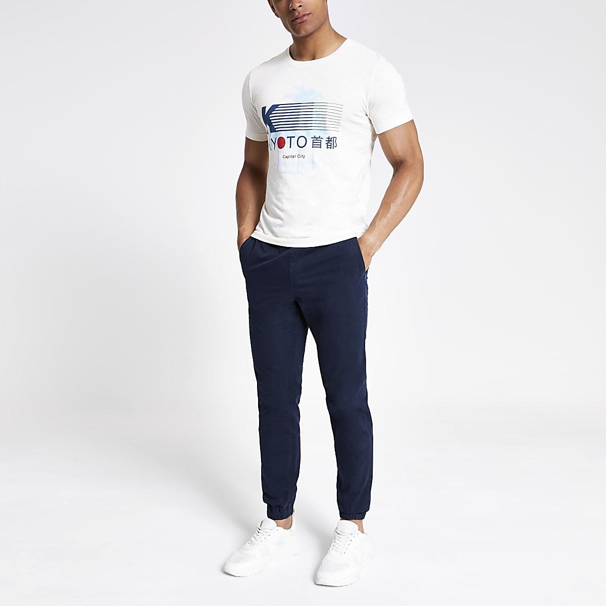 Selected Homme – T-shirt imprimé blanc