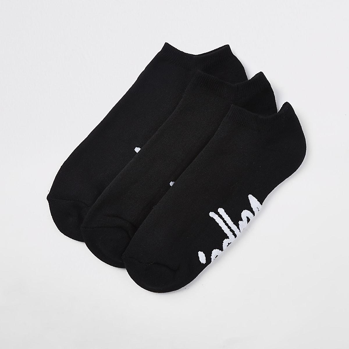 Hype black trainer socks 3 pack