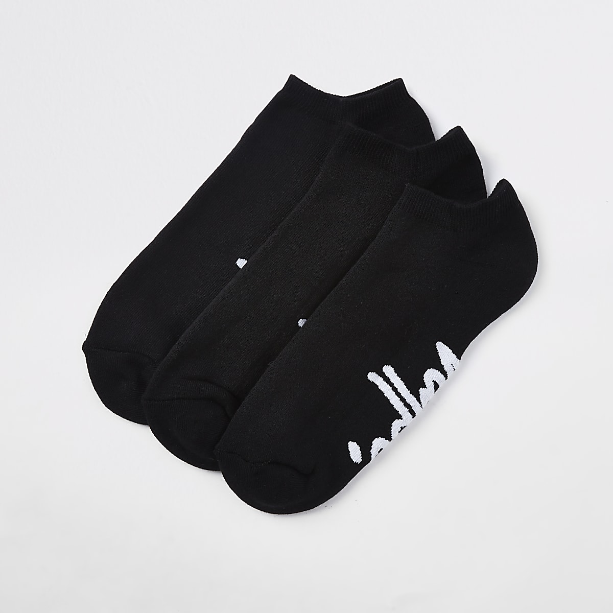 Hype black sneaker socks 3 pack