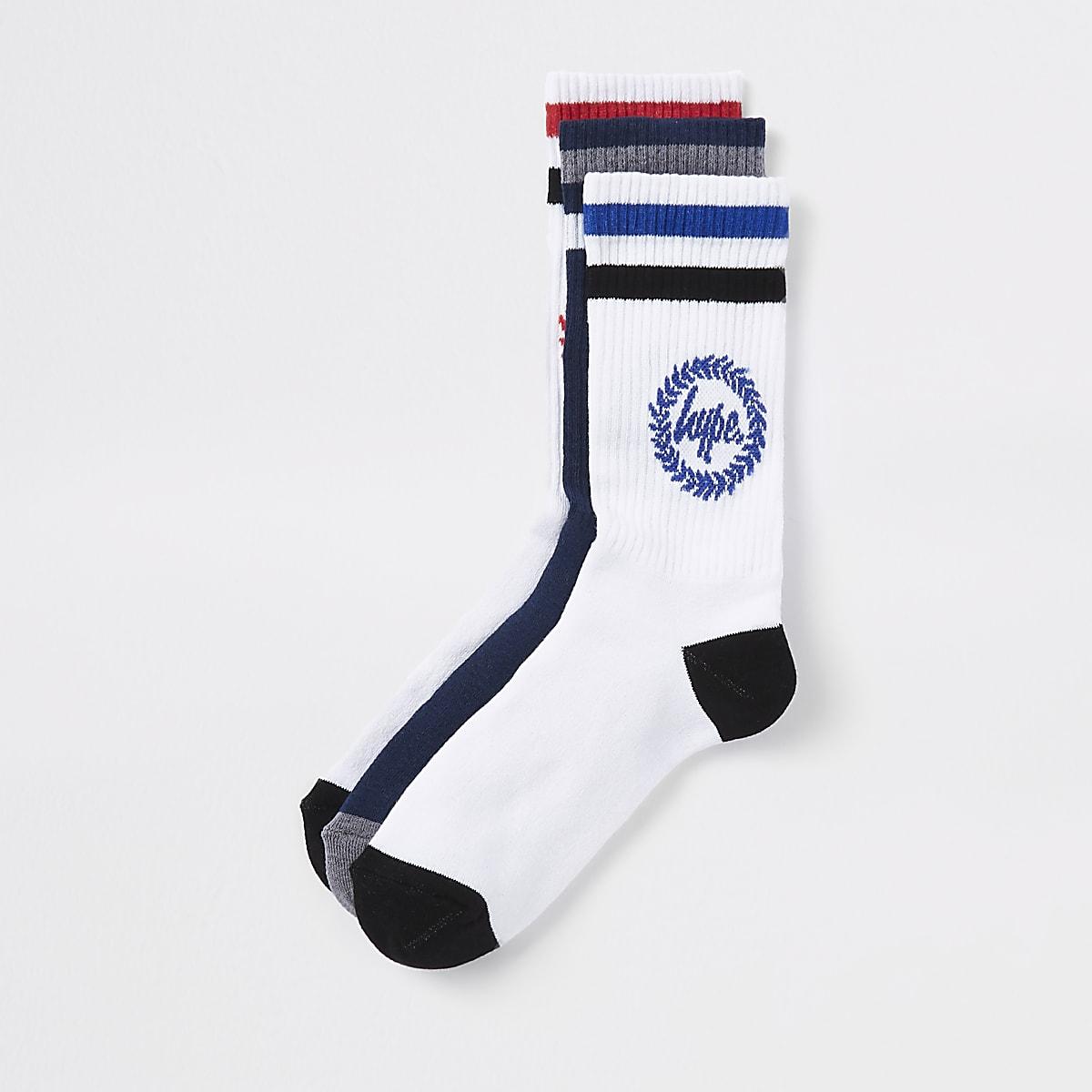 Hype navy crest print socks 3 pack