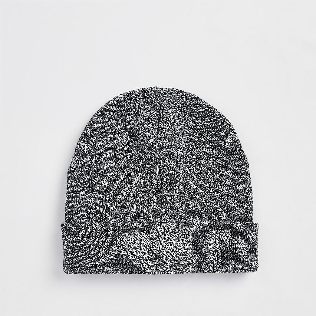 Grey slouch beanie hat