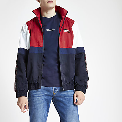 Navy Prolific colour block track top