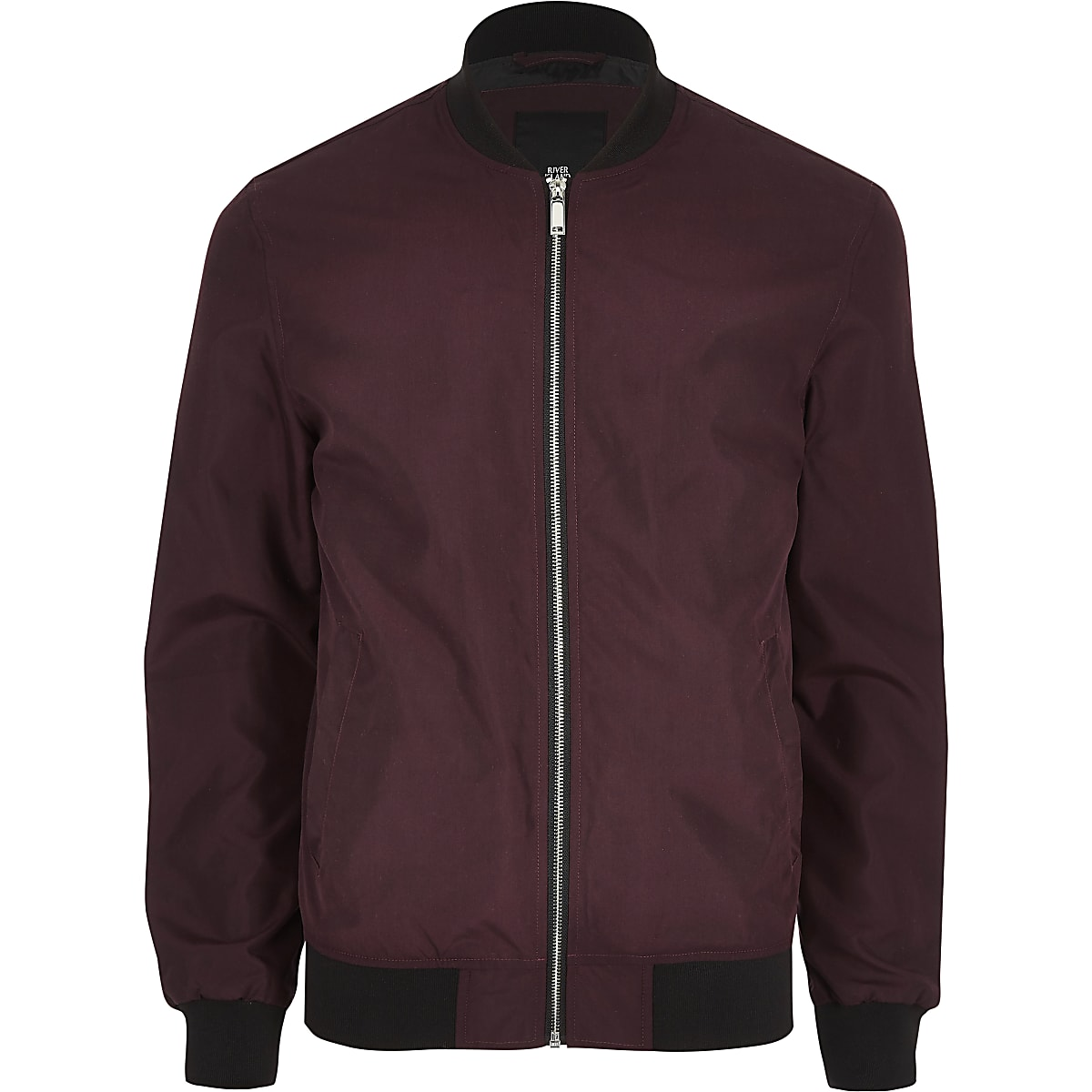f86850e13 Dark red bomber jacket