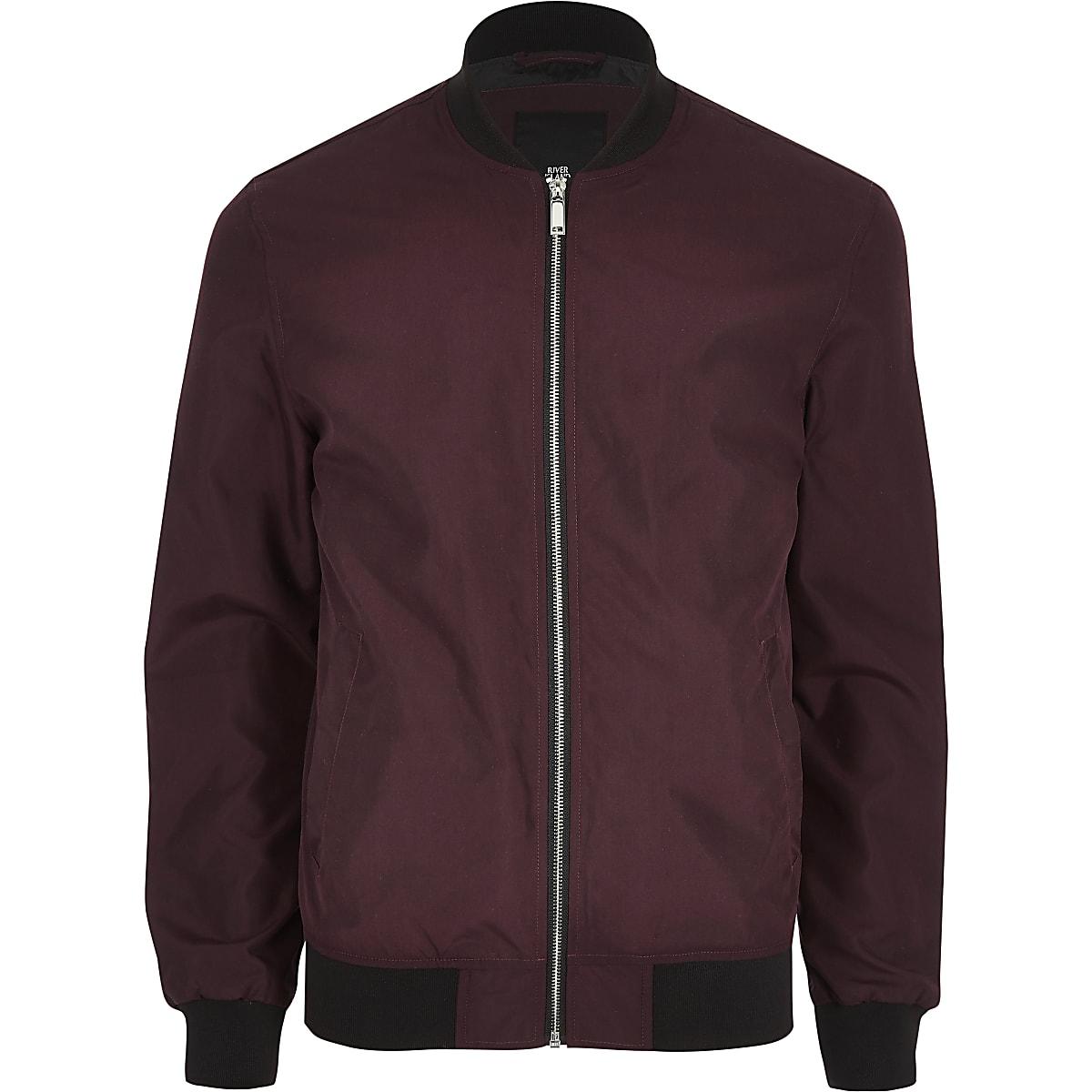 3d01869d5b52 Dark red bomber jacket - Jackets - Coats   Jackets - men