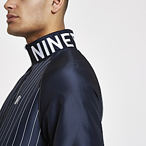 Navy stripe track jacket