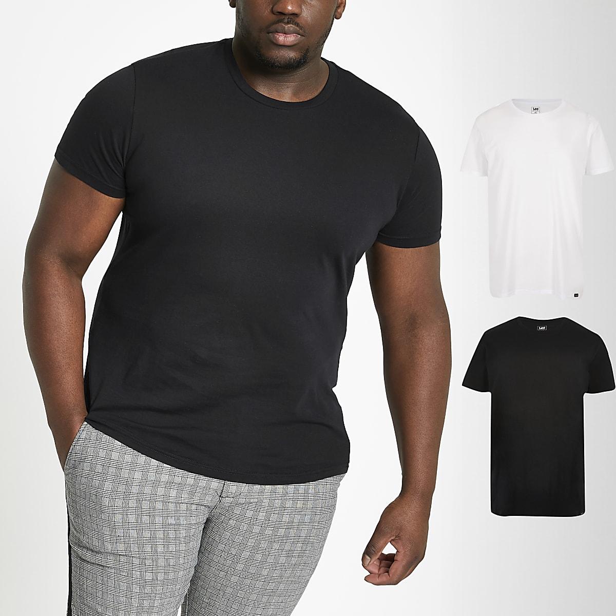 Lee – Big and Tall – Lot de 2 t-shirts multicolores