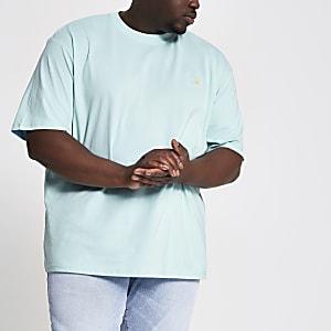 Only & Sons – Big and Tall – T-shirt bleu