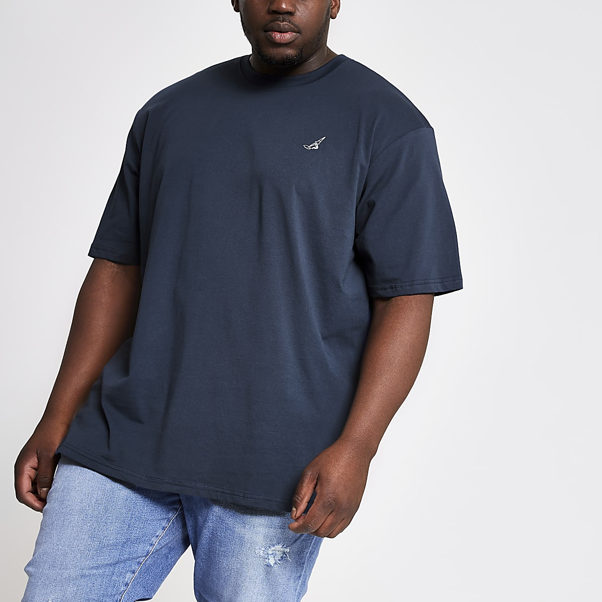 Only & Sons Big and Tall navy T-shirt