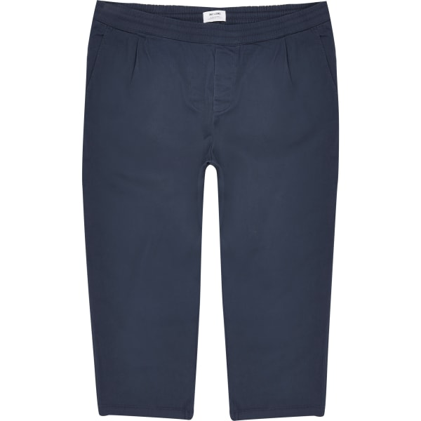 River Island - & sons – big & tall – marineblaue, weite hose - 5