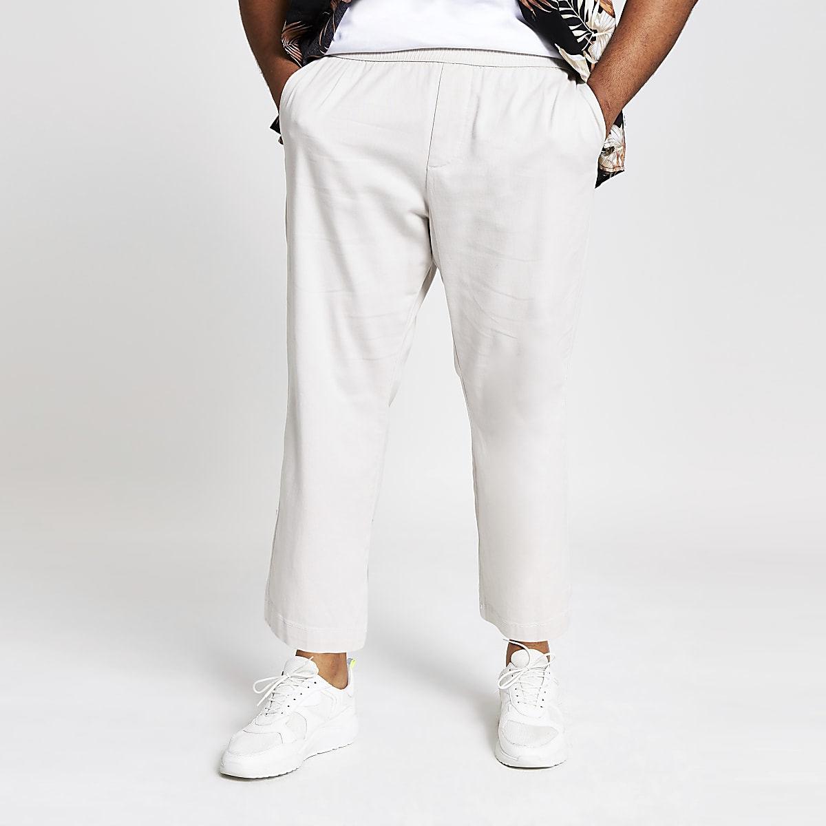 Only & Sons Big and Tall grey wide pants