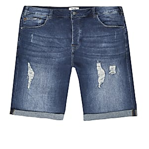 Only & Sons – Big & Tall – Jeansshorts