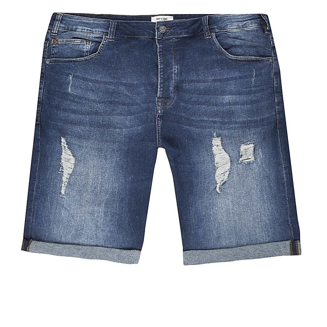 Only & Sons - Big and Tall - Denim short