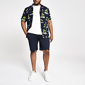 Only & Sons Big and Tall navy shorts