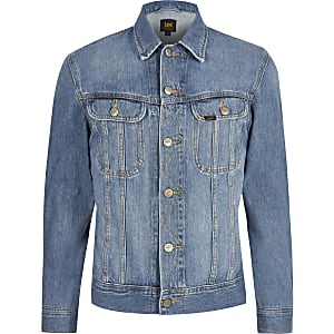 Lee – Big & Tall – Blaue Jeansjacke