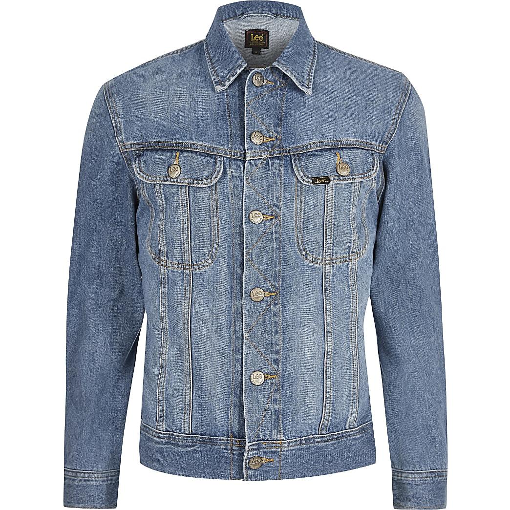 Lee – Big & Tall – Blaue Jeansjacke