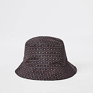 Brown RI monogram bucket hat