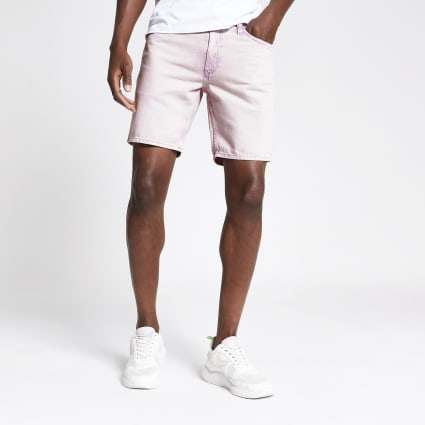 Pink Dylan wash slim fit shorts