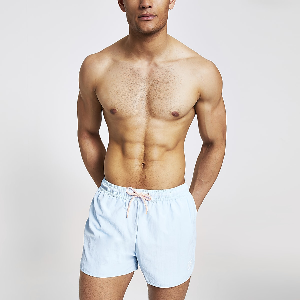 Light blue runner swim shorts