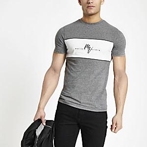 T-shirt ajusté «Maison Riviera» gris