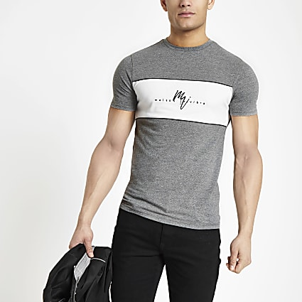 Grey Maison Riviera muscle fit T-shirt