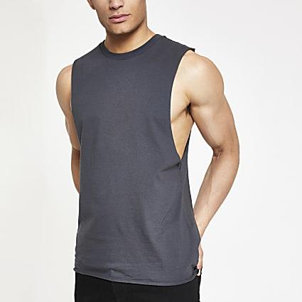 Black tank vest