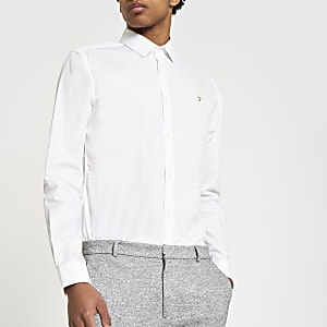 Farah – Weißes, langärmeliges Hemd