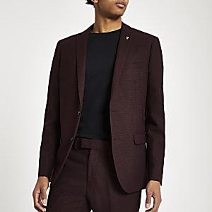 Farah – Skinny Anzugjacke in Bordeaux