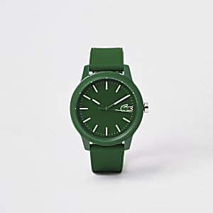Lacoste green 12.12 silicone strap watch
