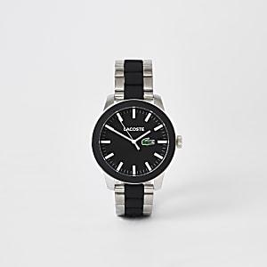 Lacoste - Grijs 12.12 horloge met bandje van twee materialen