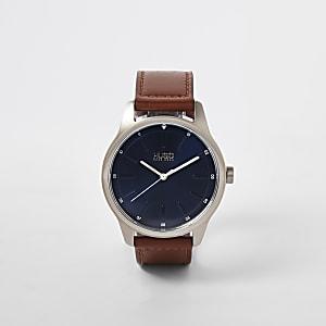 Hugo Dare - Bruin horloge van roestvrij staal