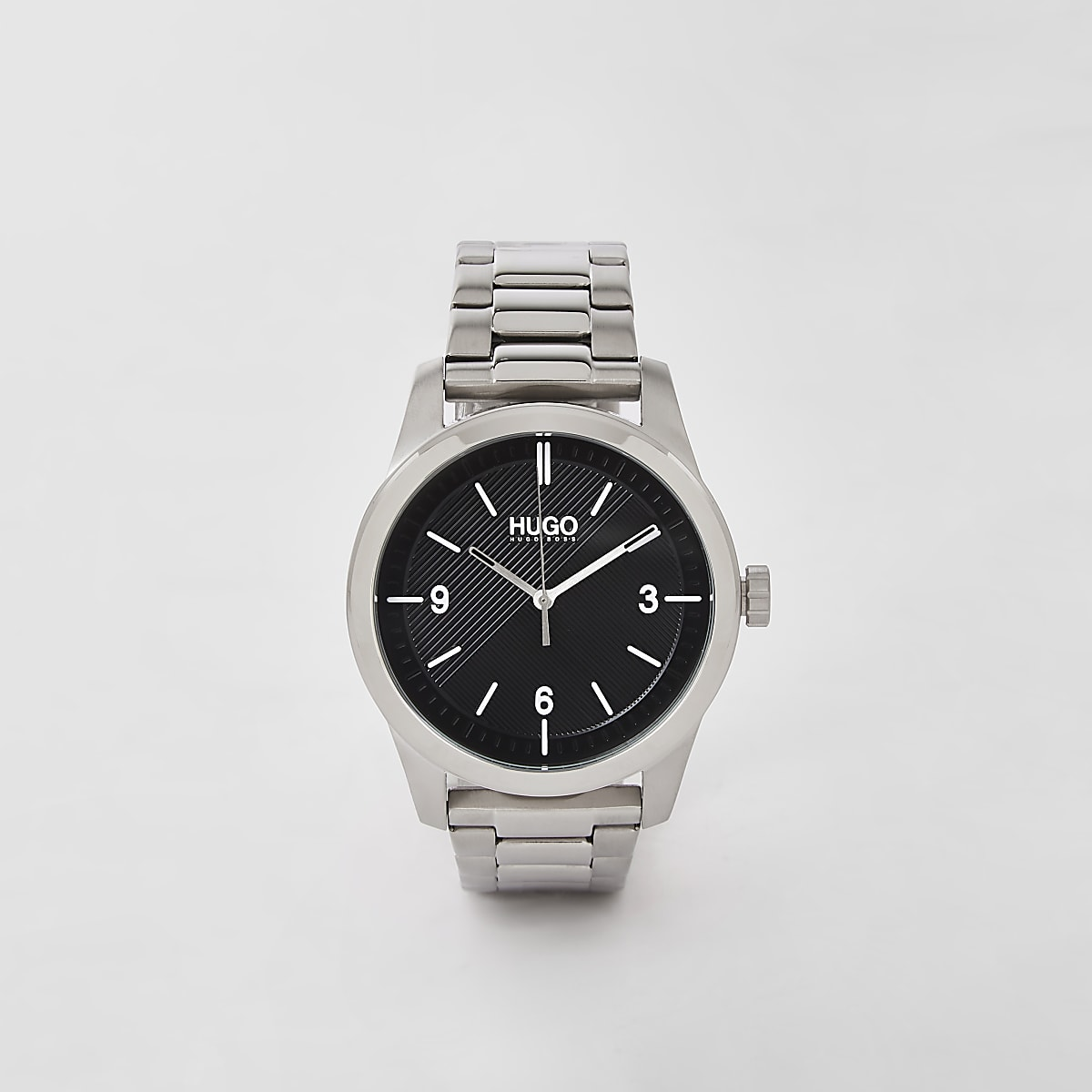 Hugo Create grey stainless steel watch