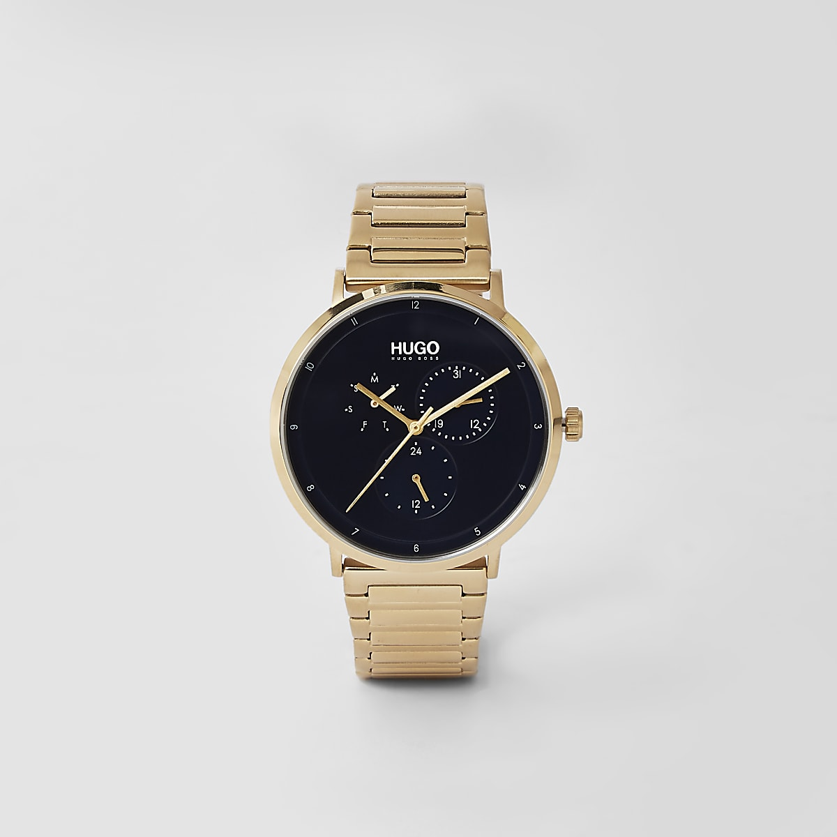 Hugo gold stainless steel watch
