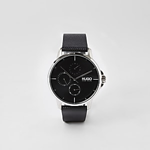 Hugo Focus black stainless steel watch