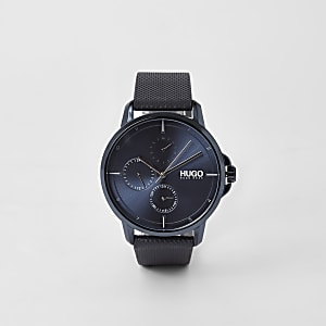 Hugo Focus blue 3 dials watch