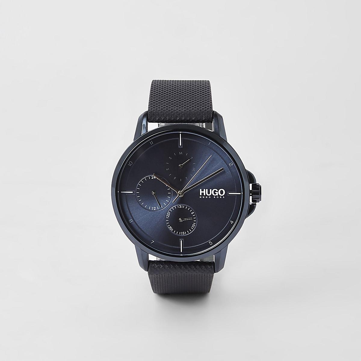 Hugo Focus blue 3 dials watch