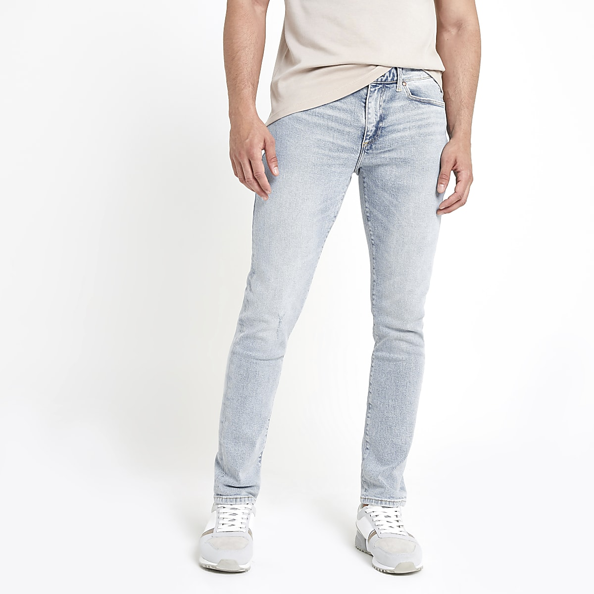 Lichtblauwe skinny-fit jeans