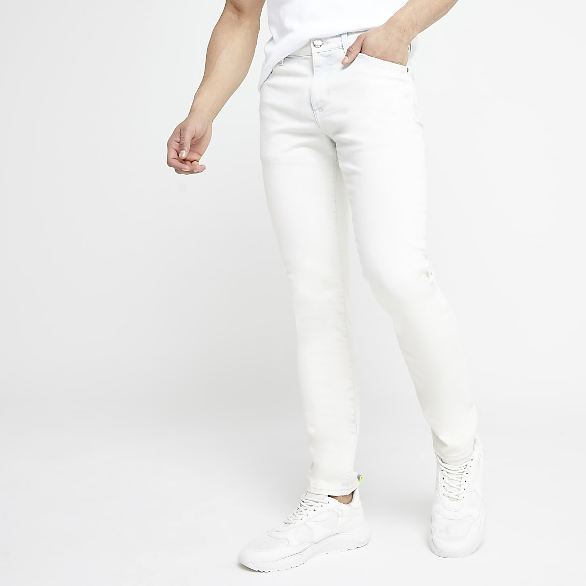 Light blue bleach Sid stretch skinny jeans