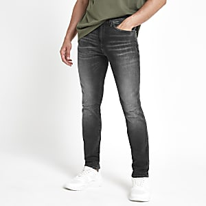 Black wash Sid skinny jeans