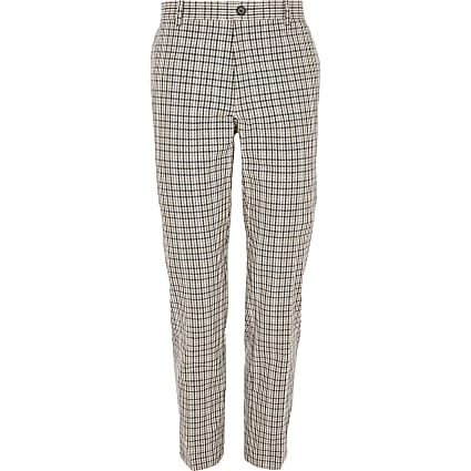 Big and Tall heritage check trousers